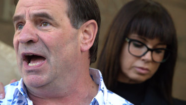 John Setka, with his wife Emma Walters, is fighting an expulsion from the Labor Party through the courts.