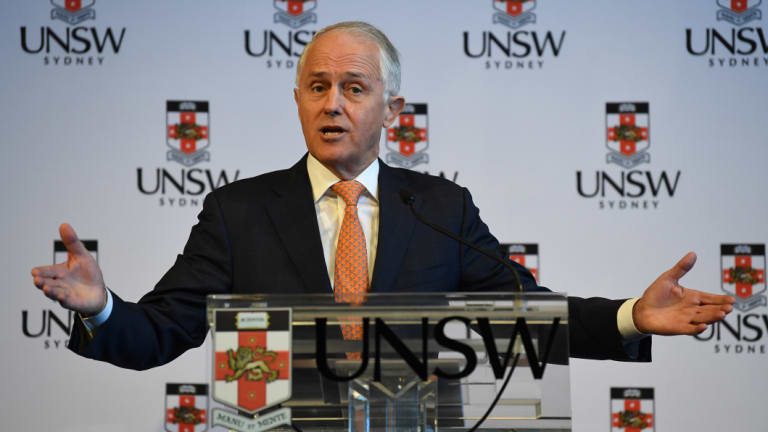 Malcolm Turnbull speaks at the University of New South Wales (UNSW) on Tuesday.