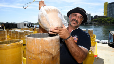 Fortunato Foti prepares fireworks for the big night.