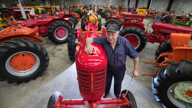 Bruce Chapman casts his eye over a Massey-Harris tractor.
