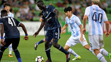 All hail the King: Kenny Athiu has signed on for two more years at Melbourne Victory.