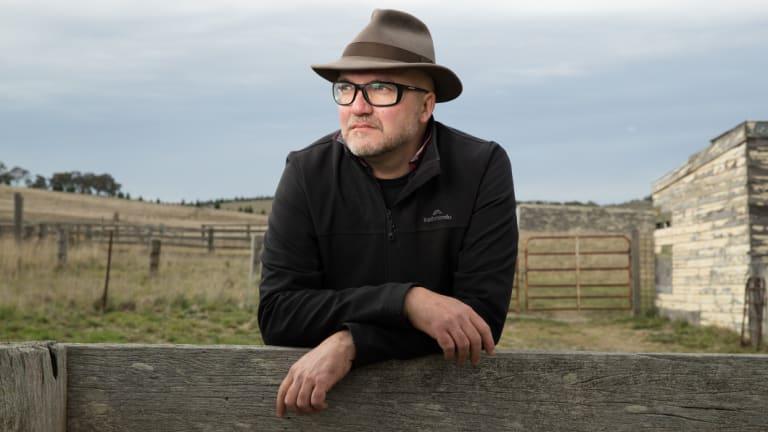 Pollster Mark Textor on his 80-hectare farm in Goulburn.