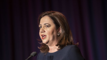 "Premier Palaszczuk, speaking from Switzerland, said emergency services were doing ""everything possible"" to battle the fires on the Sunshine Coast."