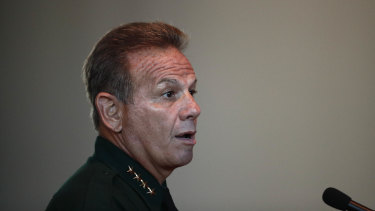 Under criticism: Broward County Sheriff Scott Israel.