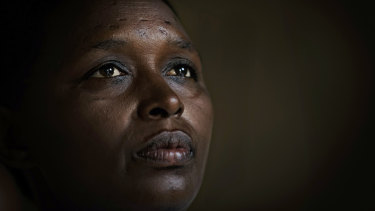 Genocide survivor Jannette Mukabyagaju, 42, recounts her experience in her home in the reconciliation village of Mbyo, near Nyamata. Rwanda is commemorating the 25th anniversary of when the country descended into an orgy of violence in which some 800,000 Tutsis and moderate Hutus were massacred over a 100-day period.