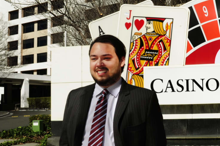 Aquis' then-managing director, Justin Fung at the Canberra Casino in September 2015.