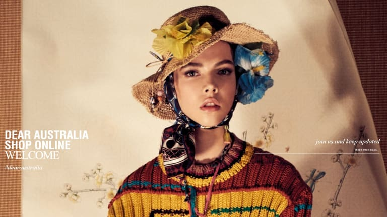 An image from the landing page of Zara's new Australian website, which launches on March 14.