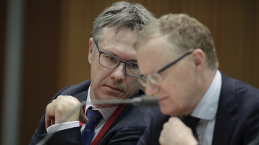 RBA governor Phil Lowe and his deputy Guy Debelle.