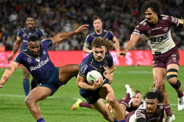 Ryan Papenhuyzen helped the Storm to destroy Manly in the first week of the finals.