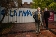 """""""Who knows if we can survive"""": La Mama chair Richard Watts and creative director Liz Jones fear for the future of the theatre."""