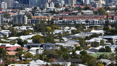 Brisbane's older suburbs are more likely to have green spaces and leafy tree cover, cooling streets and homes.