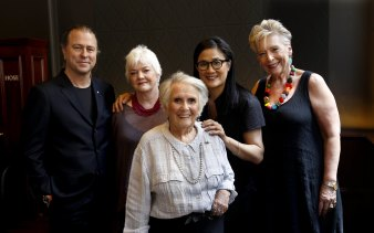 Cooking legends Neil Perry, Stephanie Alexander, Margaret Fulton, Kylie Kwong, and Maggie Beer who will appear on stamps, 2013.