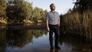 NSW Deputy Premier John Barilaro by the Macquarie River in Dubbo.
