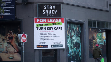 Estate agents insist the cafe's generous lease terms are not because of the coronavirus pandemic.