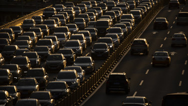 Transurban says average daily traffic on its roads in Sydney, Melbourne, Brisbane and North America fell 8.6 per cent in the 12 months to June 30