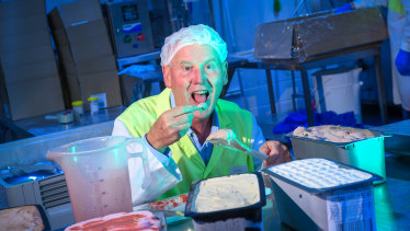 Alan Thomas from Everest Ice Cream: eating ice cream is part of his job.