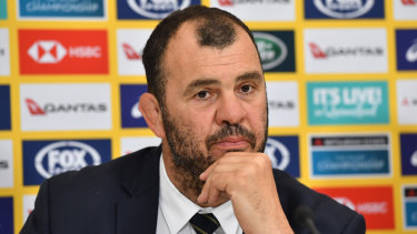 Character: Wallabies coach Michael Cheika has been described as 'Mickey Mouse' by his New Zealand counterpart.