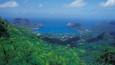Nuku Hiva, Marquesa Islands, in French Polynesia.