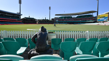 The first ODI between Australia and New Zealand was played behind closed doors at the SCG before the series was abandoned due to coronavirus restrictions.