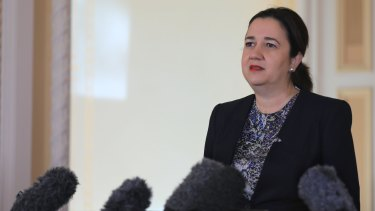 """When asked if she had misled Parliament, Premier Annastacia Palaszczuk answered: """"Definitely not."""""""