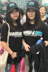 Tina Zhu and Cindy Yang, 16, play AFL at school.