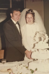 Barry and Maureen Preedy on their wedding day.