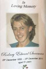 Rodney Scarman was killed in December 2011.