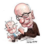 Rupert Murdoch and Malcolm Turnbull