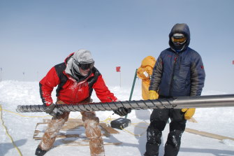 International researchers from several nations, including from Australia's CSIRO and ANSTO, drilled deep into the ice of Antarctica and Greenland to derive samples of trapped air from pre-industrial times.