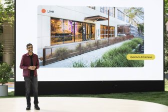 Google CEO Sundar Pichai unveils a new AI-focused campus at the I/O keynote.