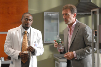 Omar Epps and Hugh Laurie in TV series House now available to stream on Amazon Prime Video.