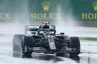 Valtteri Bottas during qualifying, where the Mercedes cars struggled.