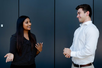 Sashna Kumar and Elliot Cichero have completed Sydney Water's highly regarded graduate program.