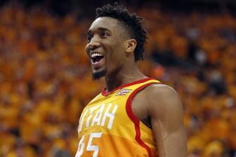 Utah Jazz player Donovan Mitchell.