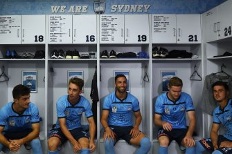 Sydney FC youngsters Joel King, Jordi Swibel, Harry van der Saag, Luke Ivanovic and Marco Tilio are shining out of the academy.