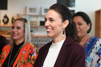NZ PM Jacinda Ardern in Napier on Friday.