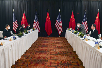 The last meeting between US and Chinese officials in Alaska was frosty.