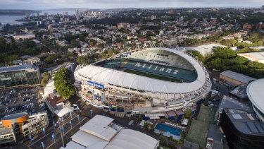 Aerial views of Allianz Stadium in Moore Park. 28th November 2017.