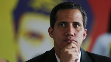The US backed Venezuela's self-proclaimed interim president Juan Guaido.
