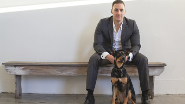 CannPal founder and Canberran for more than two decades Layton Mills is helping to develop cannabis-based treatments for pets.