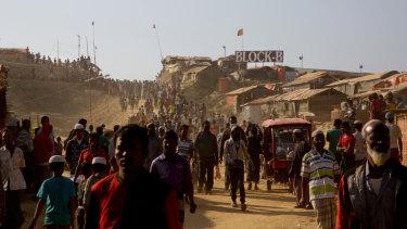 Rohingya refugees at Jamtoli refugee camp near Cox's Bazar, Bangladesh.