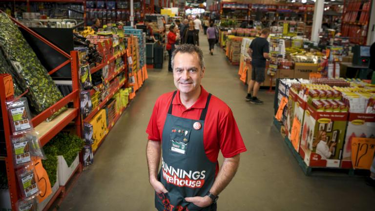 Bunnings boss Michael Schneider.