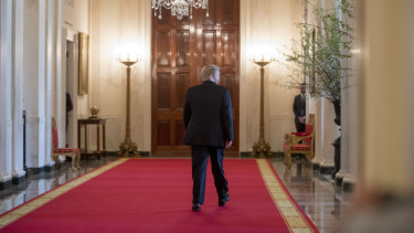 President Donald Trump at the White House on Wednesday.