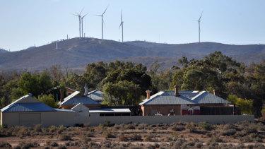 Wind farms, like Silverton outside of Broken Hill, NSW, are springing up across Australia.