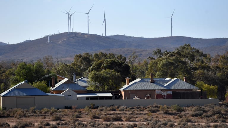 Wind farms, like Silverton outside of Broken Hill, NSW, are springing up across Australia.