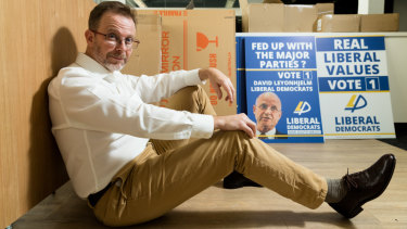 Liberal Democrat senator Duncan Spender, who has replaced David Leyonhjelm - but likely not for long.
