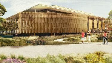 The Foundation Building at Queensland's newest university campus at Petrie, set to open with 1200 students.