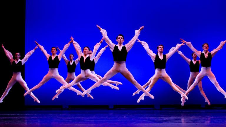 Dancers from the Australian Ballet School in 'Valetta'.