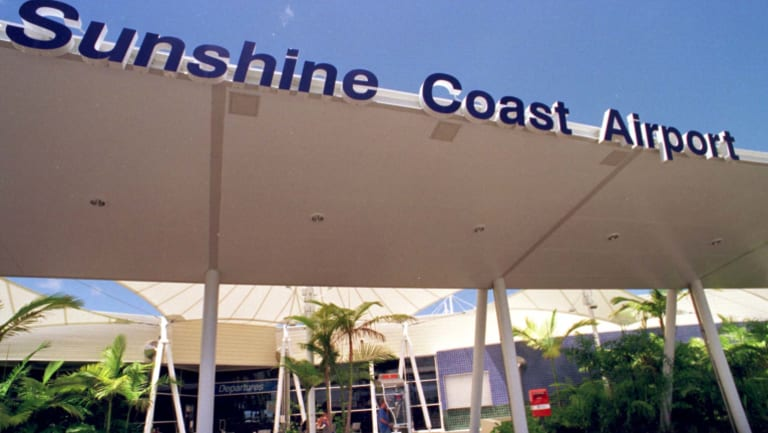 The fire took hold in a hangar at Sunshine Coast Airport.