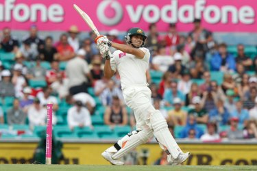 Khawaja in action on debut at the SCG.